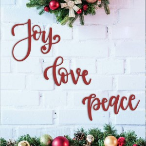 JOY LOVE PEACE METAL YAZI
