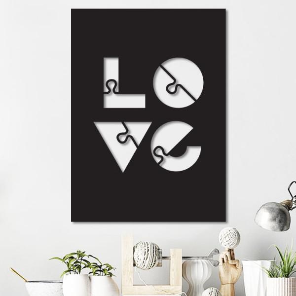 Love Puzzle 2 Metal Tablo