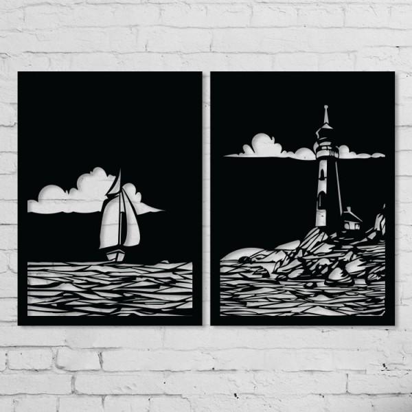 Gemi ve Deniz Feneri Set