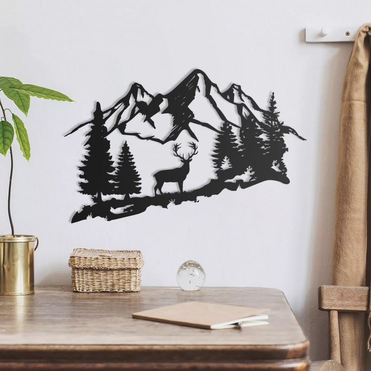 Deer and Mountain